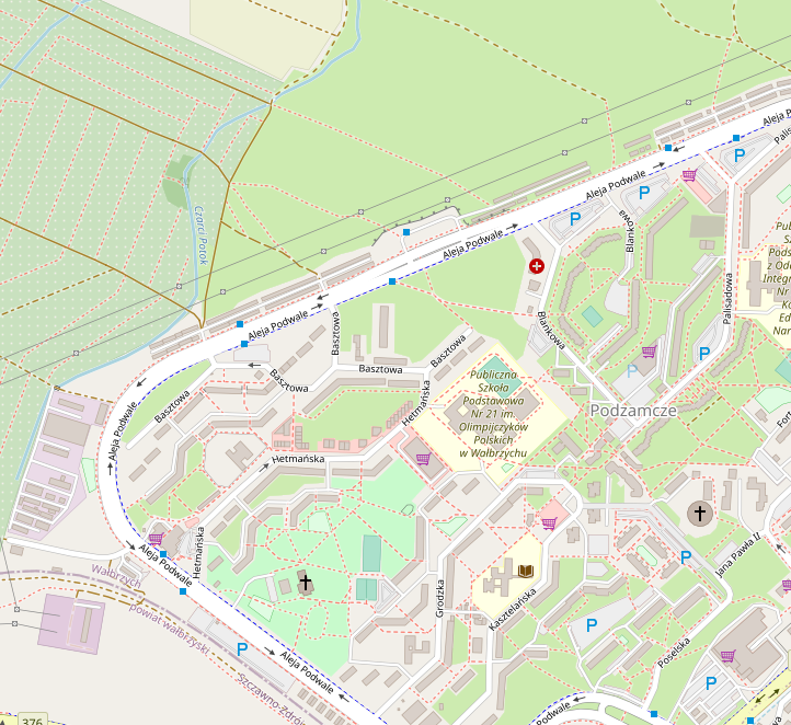 Mapa oferty Podzamcze 47