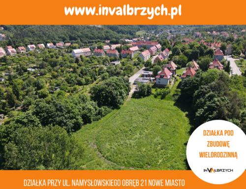 Oferta sprzedaży atrakcyjnych gruntów podzabudowę wielorodzinną wWałbrzychu.